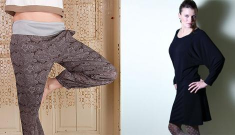 FOTO: kalhoty a šaty ze zimní kolekce Flamingopark