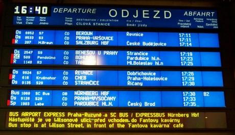 FOTO: Odjezdy vlaků