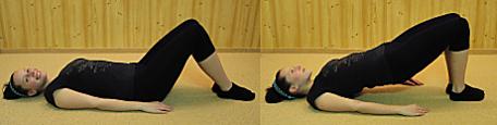 FOTO: Pilates jóga - most s přednožením