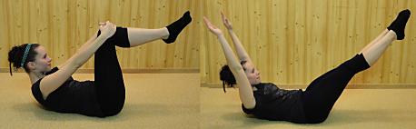 FOTO: Pilates jóga - obě nohy protažené