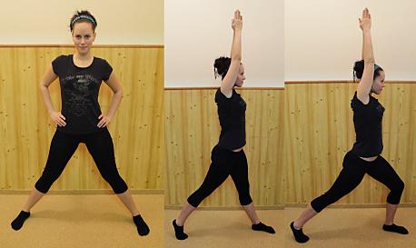 FOTO: Pilates jóga - pozice bojovníka