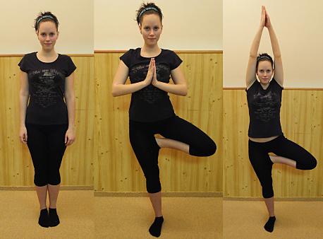 FOTO: Pilates jóga - pozice stromu