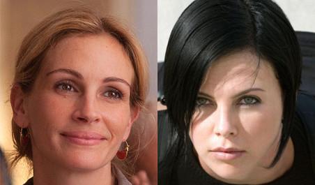 herečky Julia Roberts a Charlize Theron