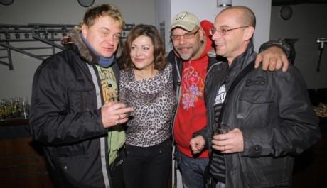 FOTO: Vilém Čok, Ilona Csáková, Martin Pošta a Tomáš Trapl na tiskové konferenci k muzikálu Kat Mydlář