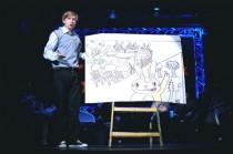 FOTO:  Lukáš Příkazký v představení Superčlověk v divadle Rokoko