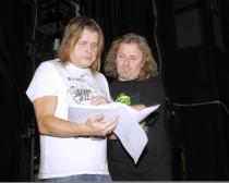 FOTO: Josef Vojtek s Bohoušem Josefem na první zkoušce muzikálu Kat Mydlář