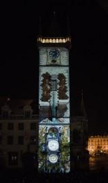 FOTO: Orloj s mappingovou projekcí