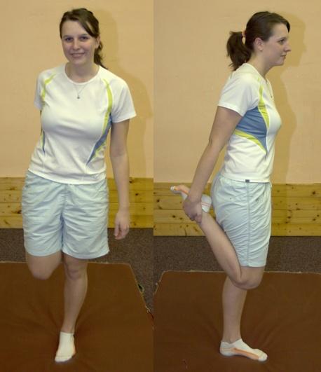 FOTO: přední stehna protažení