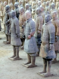 FOTO: Unikátní sochy z terakoty, Čína