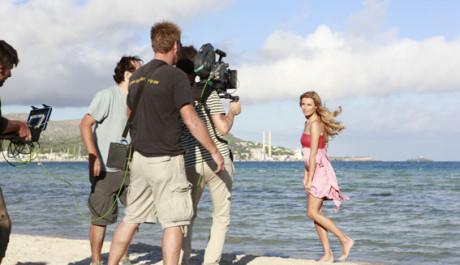 FOTO: Topmodelka Veronika Vařeková při natáčení reklamy pro Palette