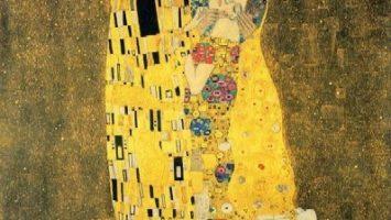 FOTO: Gustav Klimt, Polibek (Der Kuss)