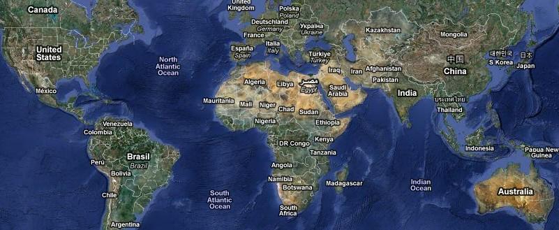 FOTO: Mapa světa