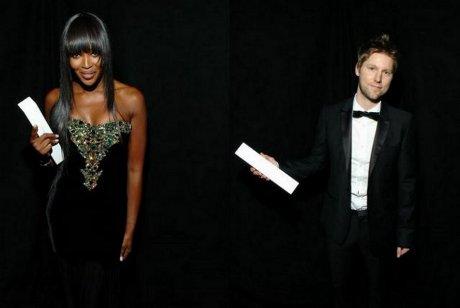 FOTO: Naomi Campbell a Christopher Bailey - British Fashion Awards 2010