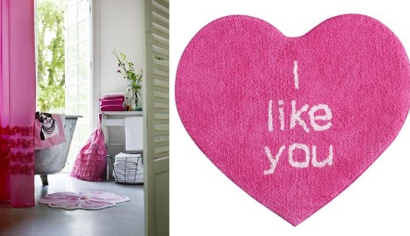 FOTO: Dekorace pokoje a koberec ve tvaru srdce