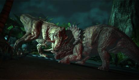 Jurassic Park: The Game - souboj dvou dinosaurů