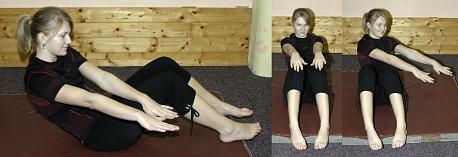 FOTO: posilování břicha - kmitání