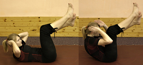 FOTO: posilování břicha - leh-sedy