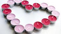 FOTO: Svíčky ve tvaru srdce