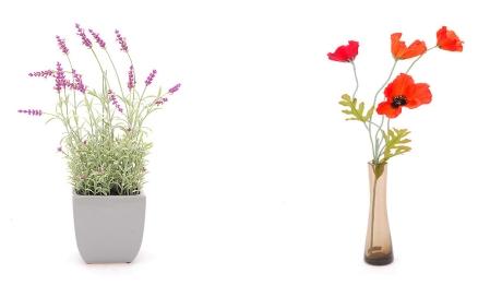 FOTO: Vázy s květinami