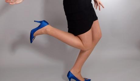 Dlouhé nohy v podpatkách
