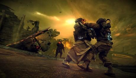 OBR.: Voják ISA bojující s helghastem nablízko