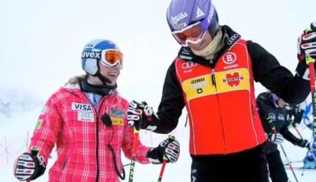 Lindsey Vonnová a Maria Rieschová