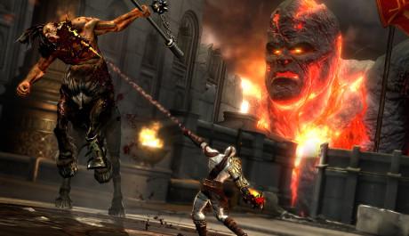 OBR.: Kratos zabíjí kentaura