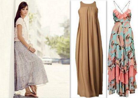 FOTO: Letní maxi šaty a dlouhá sukně