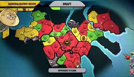 Jedna z map v kampani, ve středu trůní vulkán