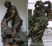FOTO: Herkules se lvem (vlevo) a Braunova Lehkomyslnost (vpravo)