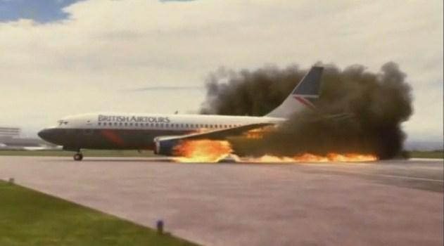 FOTO: Vznícení letadla