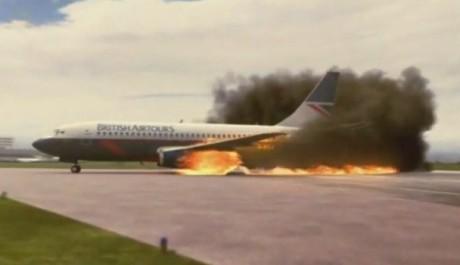 FOTO: Vznícení letadla může být velice nebezpečné