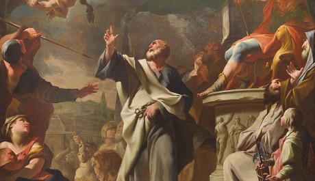 FOTO: Výstava Olomoucké baroko. Sv. Petr při souboji se Šimonem Mágem