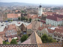 Foto: pohled na náměstí v rumunském městě Sibiu