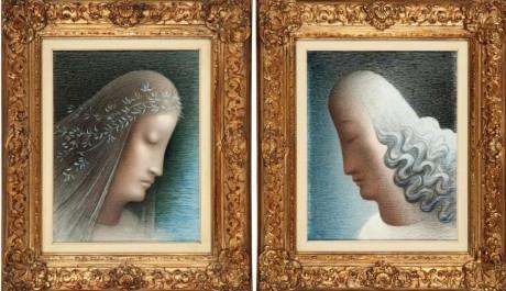 Obr. Dvojice obrazů od Zrzavého