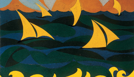 FOTO: Giacomo Balla, Linee forze del mare, 1919, zdroj: The George Economou Collection