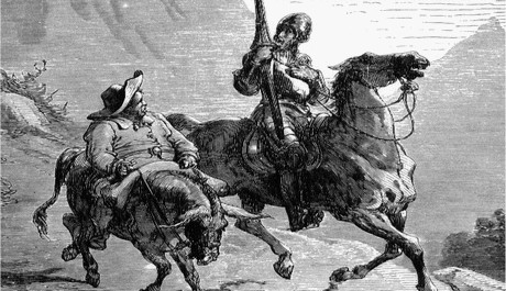 Don Quijote se Sancho Panzou na cestách.