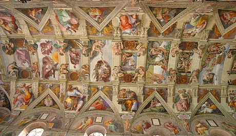 FOTO: Strop Sixtinské kaple