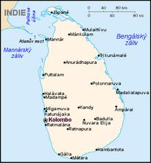 FOTO: Mapa Srí Lanky