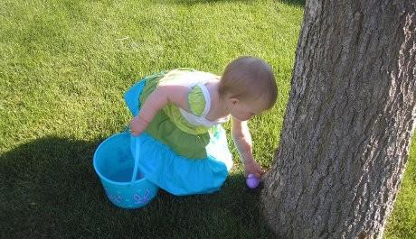 FOTO: Hledání velikonočních vajíček má také velkou tradici