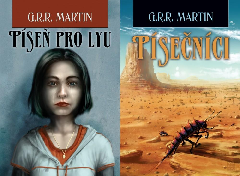 George R.R. Martin: Píseň pro Lyu & Písečníci (2x obálka)