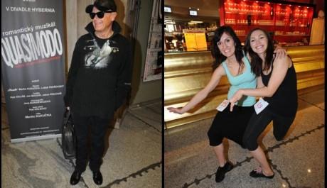 FOTO: Jiří Korn, Radka Fišarová a Kamila Nývltová na konkurzu k připravovanému muzikálu Quasimodo Divadla Hybernia