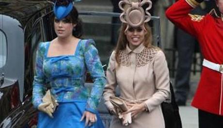 FOTO: Princezny Eugenie a Beatrice na svatbě prince Williama