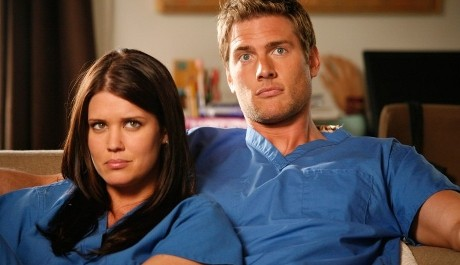 FOTO: Hvězdy seriálu Chuck: Sarah Lancaster a Ryan MacPartlin