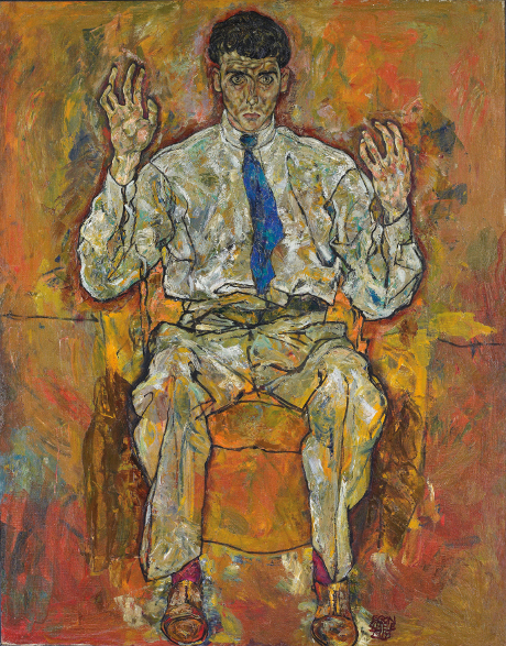 Egon Schiele Der Maler Albert Paris Guetersloh, 1918, zdroj: The Minneapolis Institute of Arts