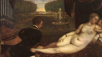 Tizian: Venuše s varhaníkem neboli Venuše naslouchající Amorovi a hudbě