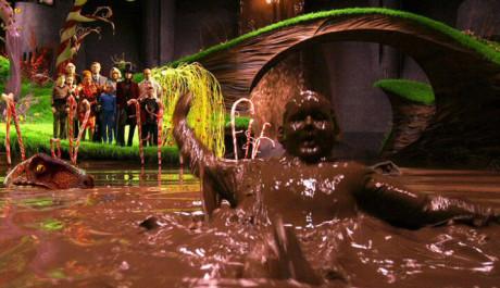 FOTO: Karlík a Továrna na čokoládu - čokoládová koupel