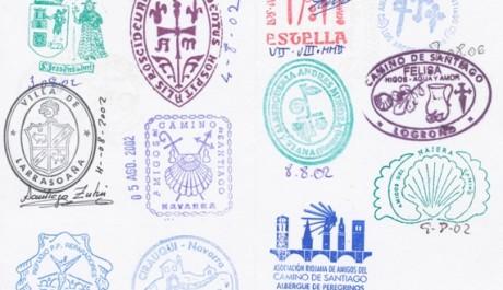 FOTO: razítka v poutnickém pasu