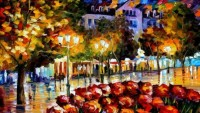 FOTO: Leonid Afremov, City flowers