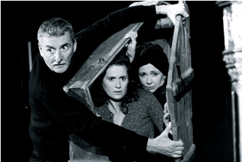 Foto: Martin Huba, Lucie Štěpánková a Ilona Svobodová v Divadle v Řeznické